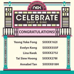 [NEX] Congratulations to the winners of the 'Celebrate!