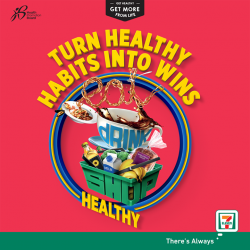 [7-Eleven Singapore] Win every day with the Healthy 365 app and the Eat, Drink, Shop Healthy Challenge!