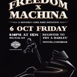 [Harley-Davidson] Freedom x Machines = Goodtimes, therefore, equating to monthly Friday night ride .