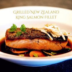 [Wooloomooloo Steak House] Hailing from a land of great natural beauty, New Zealand King Salmon is about as good as salmon can get.