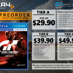 [GAME XTREME] GT Sport Trade-In Promo【PROMO DURATION】 Now - 15/10/17【DETAILS】 Welcome to the future of motorsports – the definitive