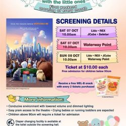 [Shaw Theatres] Join us for Movies with the Little Ones on 7 & 8 October.