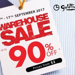 [Goldlion] Enjoy up to 90% off at the GOLDLION Warehouse Sale happening 14th to 17th September!