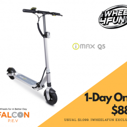 [Falcon PEV] Our i-MAX Q5 will be only going at $888 (usual $999) at iWheel 4 Fun, Singapore's Largest PMD