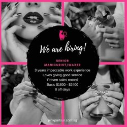 [Pink Parlour] We are hiring!