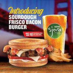 [Carl's Jr.] Introducing the Sourdough Frisco Bacon Burger.