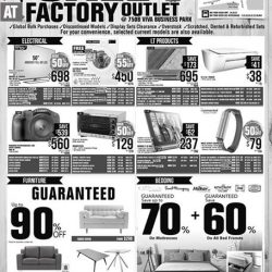 [Harvey Norman] Harvey Norman's First Warehouse SALE at the Factory Outlet is NOW ON!
