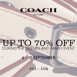 IMM: Coach Outlet Friends & Family Sale with Up to 70% OFF