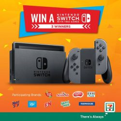 [7-Eleven Singapore] Win a Nintendo Switch with 2 games* when you purchase $3 worth of F&N Brands^!