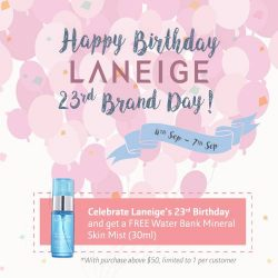 [Laneige] We're giving away Water Bank Mineral Skin Mist from our signature WaterBank line as part of LANEIGETurns23 celebrations!
