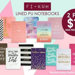 [Precious Thots] SPECIAL PROMOTIONFI-KUH (pronounced as fee-kah) Lined PU Notebooks @ 2 for S$15 (U.