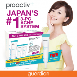 [Guardian] Say BYE BYE to BLEMISHES with Proactiv+ Japan 3 –pc kit and Emergency Blemish Relief and Proactiv+ Japan 3-pc