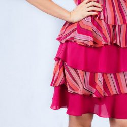 [Rose Of Sharon] Layered Candy Stripe DressS$153.