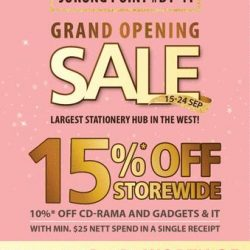 [POPULAR Bookstore] It's the Grand Opening Sale @ POPULAR Jurong Point!