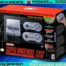[GAME RESORT] Super Nintendo NES Classic Edition,The Super NES Classic Edition system looks and feels just like the original '90s home