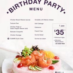 [Sumire Yakitori House] Last 3 days for Celebrating our Birthday Anniversary Promotion Introducing our Birthday Menu for 🎂Celebration Beautiful Sushi Cake 🍣
