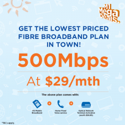 [M1] Hurry down to Suntec Convention Centre and grab the lowest priced Fibre Broadband plan in town at only $29/mth!