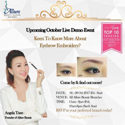 [Allure Beauty Saloon] ANNOUNCING THE 1 LUCKY WINNER FOR OUR LIVE DEMO EVENT CONTEST.