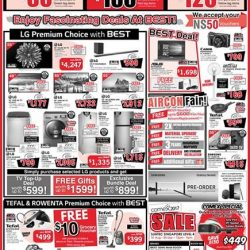 [Best Denki] It's going to be a long weekend and also, the start of our brand fair for LG, Tefal & Rowenta!