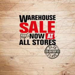 [Harvey Norman] Warehouse Sale now on at all HarveyNormanSG stores from 23 to 29 September 2017.