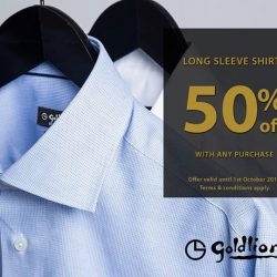 [Waterway Point] Look sharp in GOLDLION's wide range of Long Sleeve Shirts!