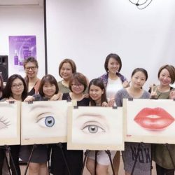 "[Allure Beauty Saloon] Allure Beauty's staffs are currently under a training programme: The Beauty of Aesthetics Sketch Workshop""Sharing is a joy"