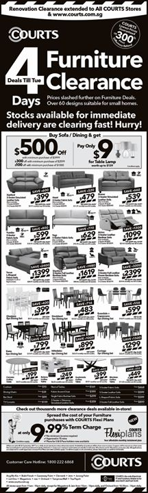 [Courts] COURTS 4 Days Clearance Deals Continues This Weekend!