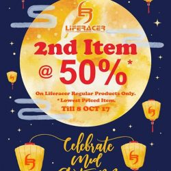 [Liferacer] Dear all, Mid Autumn Sales starts from Now till 8th October 2017, buy any Liferacer REGULAR item and entitle to