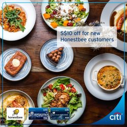 [Citibank ATM] New Honestbee customers, you're in for a treat this month when you pay with Citi Cards.