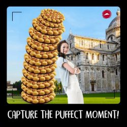 [Pizza Hut Singapore] GET READY to help snap the Puff-ect tourist shot at the Leaning Tower of Pizza!