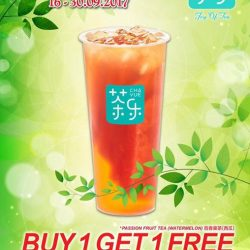 [Kopitiam] From today till 30 September, get a cup of Fresh Fruit Tea FREE when you purchase any yummy Cha Yue 茶乐