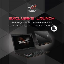 [Harvey Norman] Come experience the new ROG Zephyrus GX501 Gaming laptop at the Level 1 of Parkway Parade at the ASUS ROG