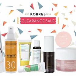 [KORRES] KORRES Singapore annual clearance sale is back with discounts up to 75% off!
