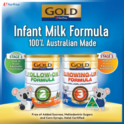[NTUC FairPrice] Introducing the first ever House Brand milk powder in Singapore–the FairPrice Gold Milk Formula.