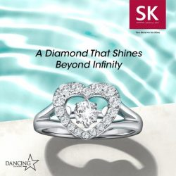 [SK Jewellery] Like sunrays dancing across the water, glistening in a breathtaking eternal sparkle, the Dancing Star diamond oscillates freely, shining beyond