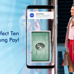 [American Express] Save precious time during checkouts with the convenience of Samsung Pay.