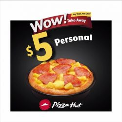 [Pizza Hut Singapore] Snag a pizza from only $5 each!