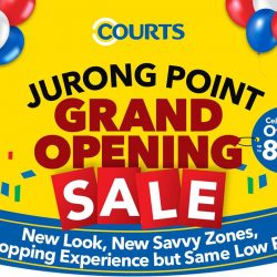 [Courts] Celebrate with us at the newly renovated COURTS Jurong Point for our 🎊 Grand Opening Sale 🎊 this weekend (23 & 24 Sep)!