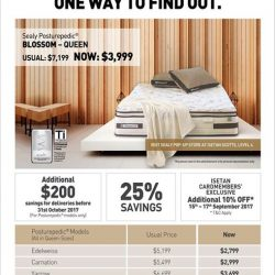 [Sealy Singapore] 25% savings on our mattresses!