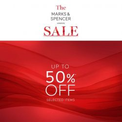 [Marks & Spencer] THE M&S SALE NOW ON: Enjoy up to 50% OFF on selected items and receive a S$20 Gift