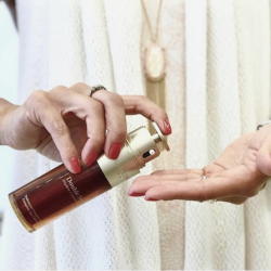 [Clarins] The lightweight texture of NEW Double Serum is a pampering sensory experience not to be missed.
