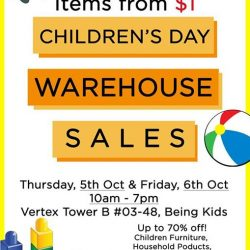 [Natures Collection] Natures Collection will be having a Children's Day Warehouse Sale on 5-6 October 2017.