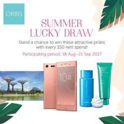 [ORBIS] Last call to stand yourself a chance to be 1 of 20 winners of the ORBIS Summer Lucky Draw!
