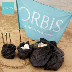 [ORBIS] throwback to the day when the ORBIS Singapore team had our beach cleaning activity at Changi Beach.
