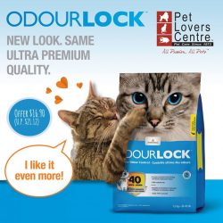 [Pet Lovers Centre Singapore] Quick clumping ODOURLOCK the best clay litter on the market!