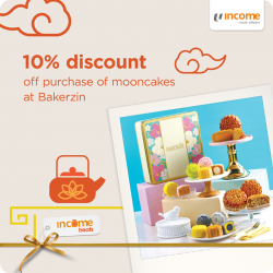 [NTUC Income Insurance] This Mid-Autumn Festival, delight in a sweet selection of mooncakes from Bakerzin, Fairmont Singapore, and Hello Kitty Orchid Garden!