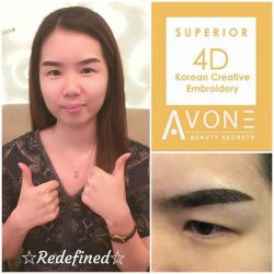 [AVONE BEAUTY SECRETS] DOUBLE THUMBS UP👍👍 from our dearest customer Novera Tenisia who is very pleased with her ABS 4D Superior Brows Embroidery