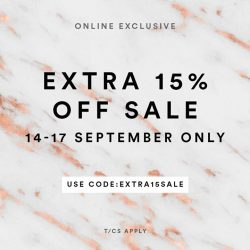 [MDSCollections] Extra 15% OFF on sale items | Online Exclusive, don't miss it !