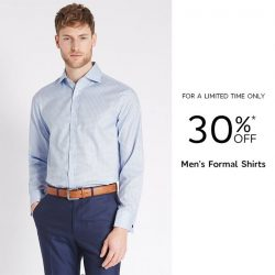 [Marks & Spencer] Good things start this weekend, enjoy 30% OFF* all Knitwear, Dresses, Casual Linens, Men's Formal Shirts and Bras!