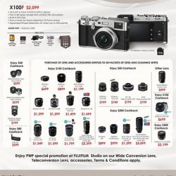 [FUJIFILM] For those who missed the COMEX show, We do stilll have great deals installed.